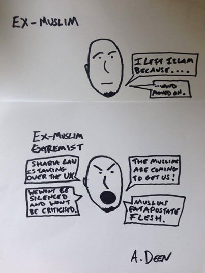 The differences beween Ex-muslims and Ex-Muslim extremists